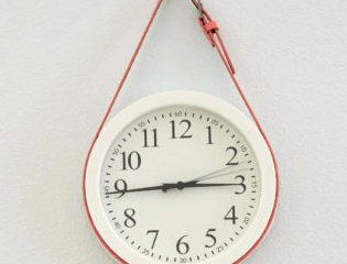 DIY Fancy Belted Clock