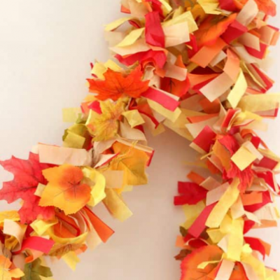 Easy DIY Fall Leaves Fringe Party Garland
