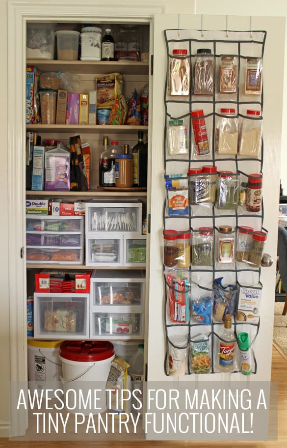 Awesome tips and tricks for small pantry organization for Small kitchen storage