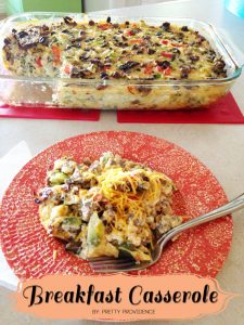 Literally the world's best breakfast casserole!! It's so good!