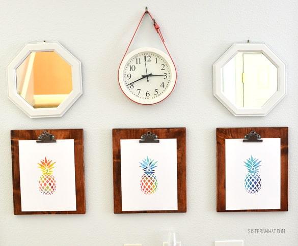 DIY belted clock