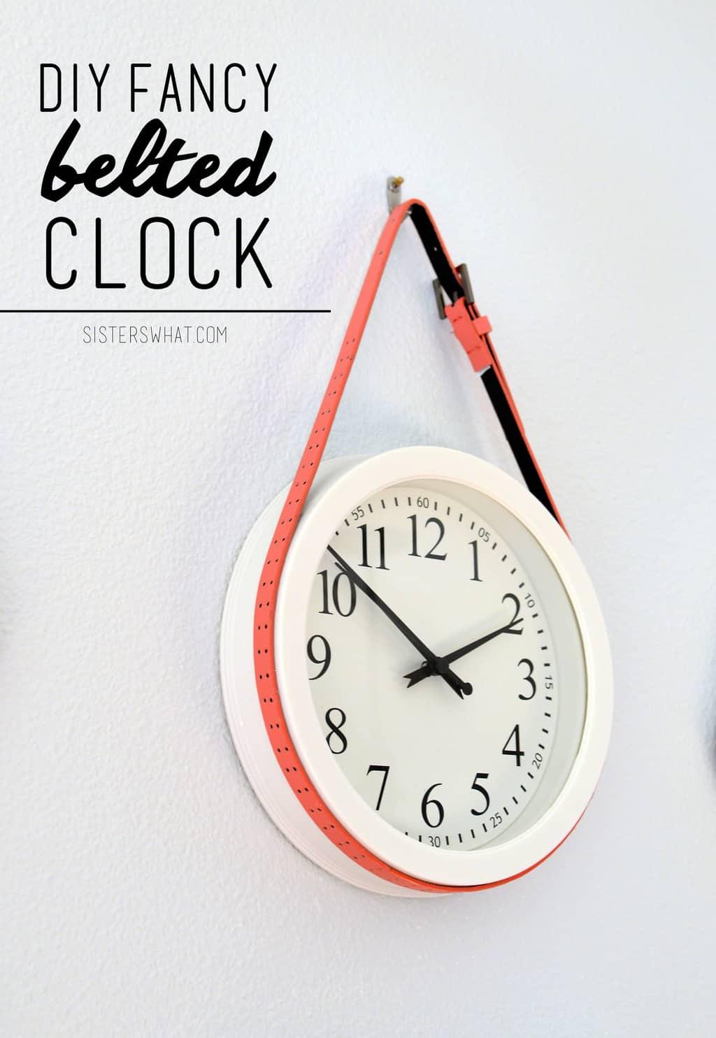 Diy Fancy Nails: DIY Fancy Belted Clock