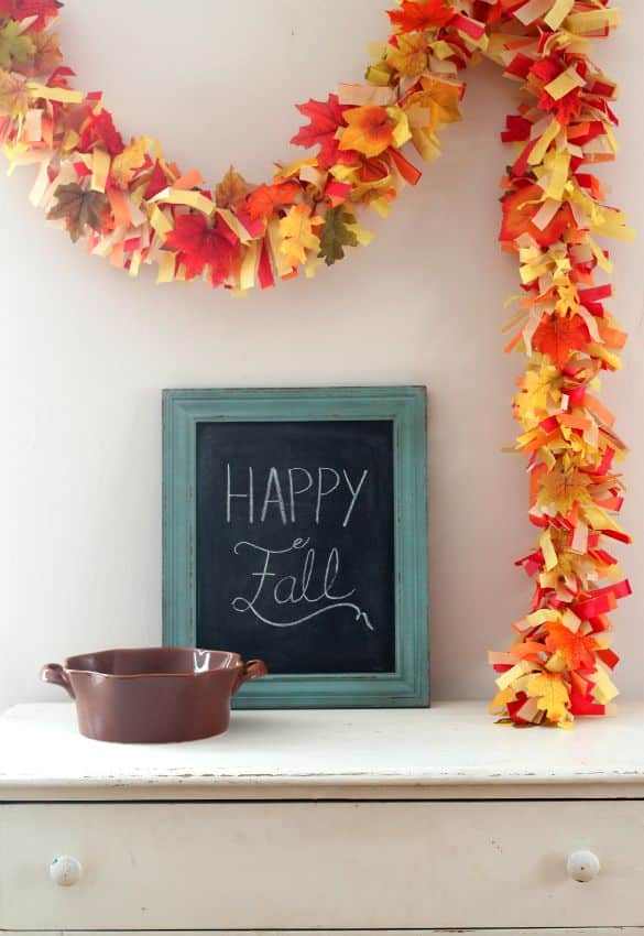 Easy Diy Fall Leaves Fringe Party Garland Pretty Providence