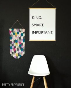 "Free printable black and white poster The Help quote ""Kind. Smart. Important."""