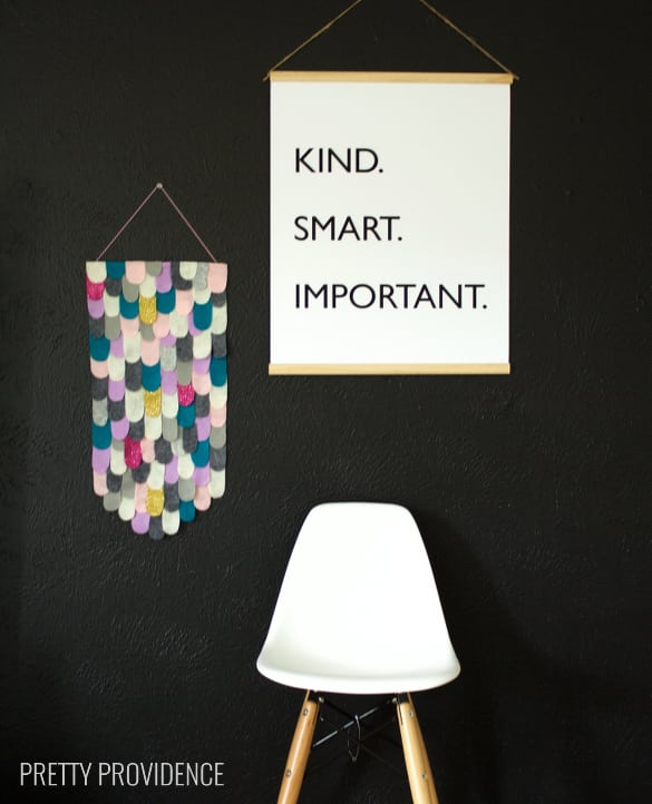"""Free printable black and white poster The Help quote """"Kind. Smart. Important."""""""
