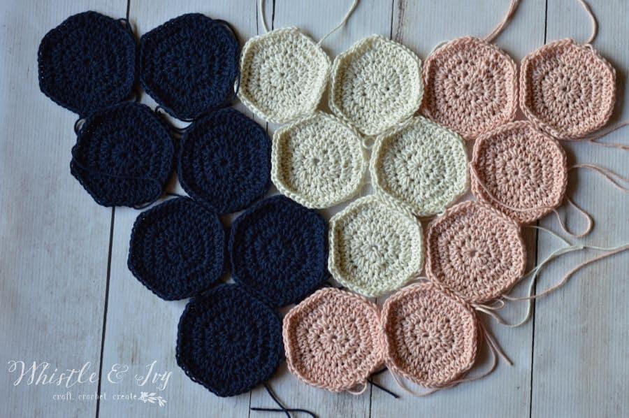 Crochet Hexagon Wall Hanging