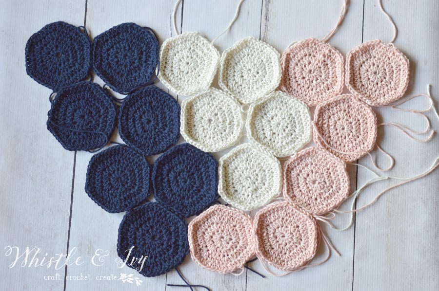 Crochet Hexagon Wall Hanging Pretty Providence