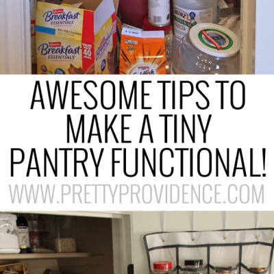Awesome Small Pantry Organization Tips and Tricks!