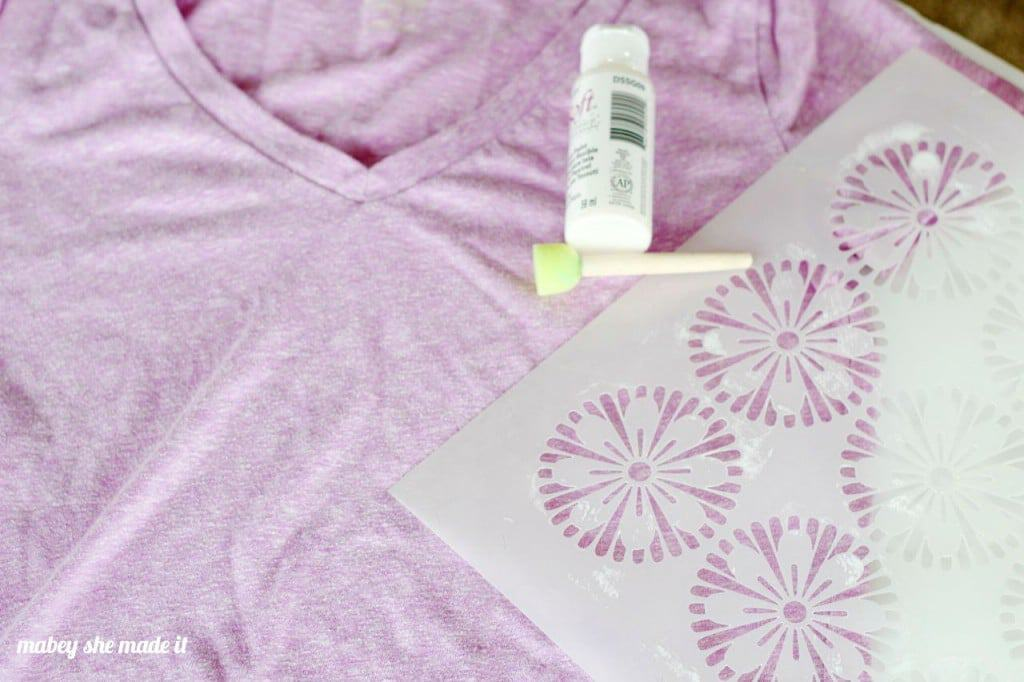 Update a plain tee with stencils.