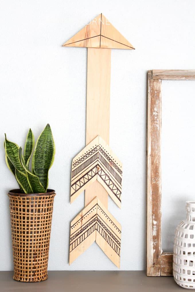 tribal wood aarow wall art 8