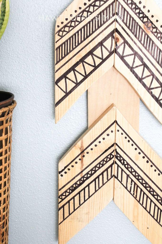 tribal wood aarow wall art 9