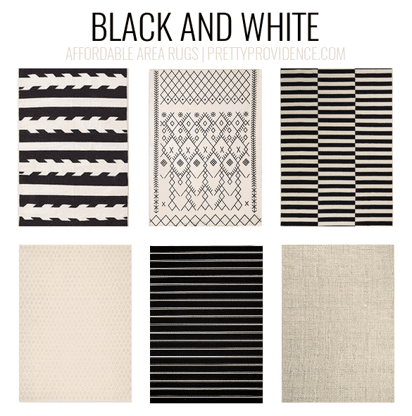 Black And White Rugs. Affordable Area Rugs   5x7 Less Than $150 Or 8x10 Less