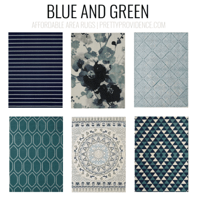 Navy, blue and green rugs. Affordable area rugs - 5x7 less than $150 or 8x10 less than $200 - sorted by color! prettyprovidence.com