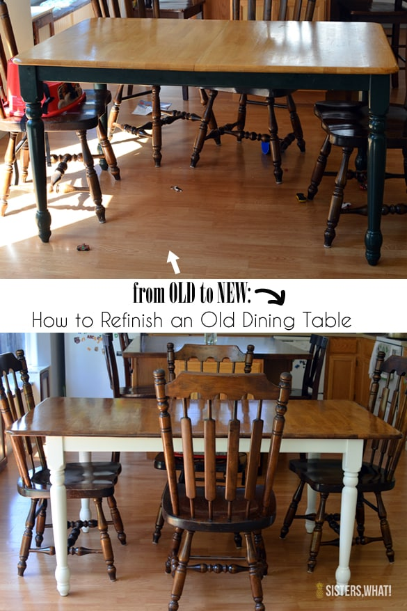 how to refinish an old dining table pretty providence. Black Bedroom Furniture Sets. Home Design Ideas