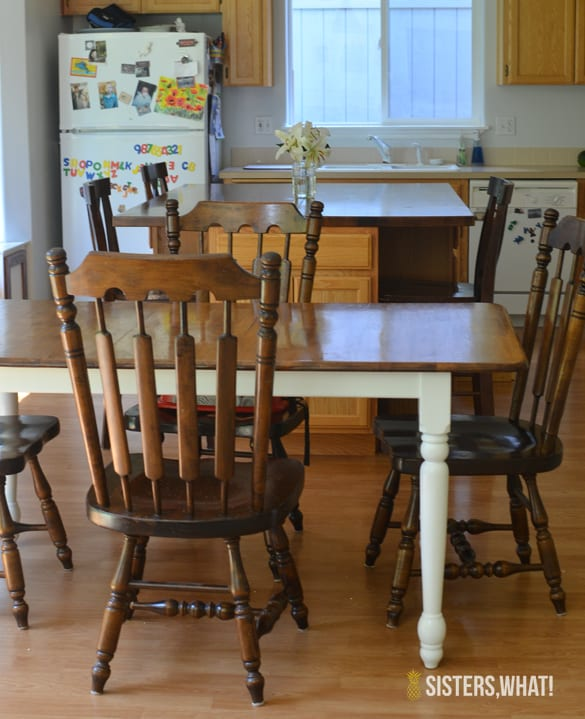 Old Kitchen Table How to refinish an old dining table pretty providence how to refinish an old dining table workwithnaturefo