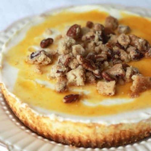Pumpkin Drizzle Cheesecake