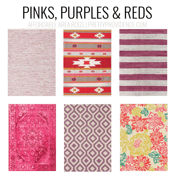 Affordable area rugs - 5x7 less than $150 or 8x10 less than $200 - sorted by color! prettyprovidence.com