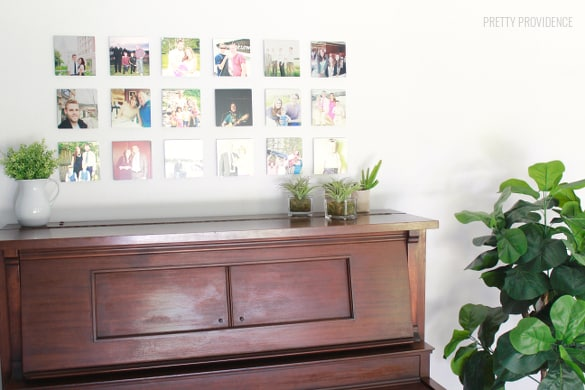 LOVE THIS! gallery wall with mini metal prints from Shutterfly   prettyprovidence.com