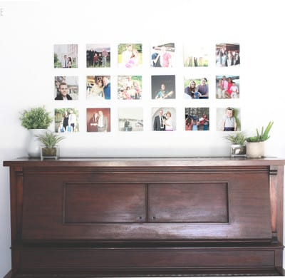LOVE THIS! gallery wall with mini metal prints from Shutterfly | prettyprovidence.com