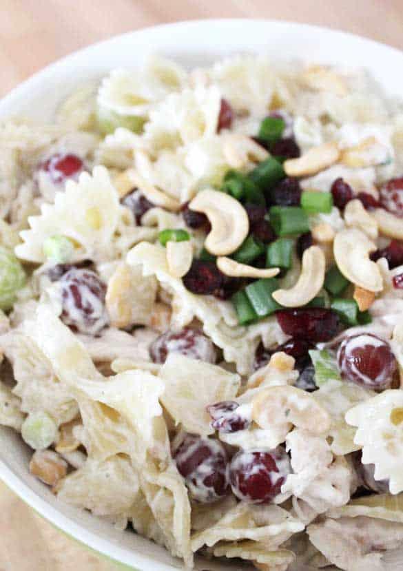 The World's Best Ranch Bowtie Pasta Salad
