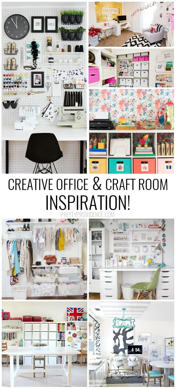 #CRAFTROOMGOALS Oh my gosh. These craft room ideas have organization + they are beautiful! So inspiring.