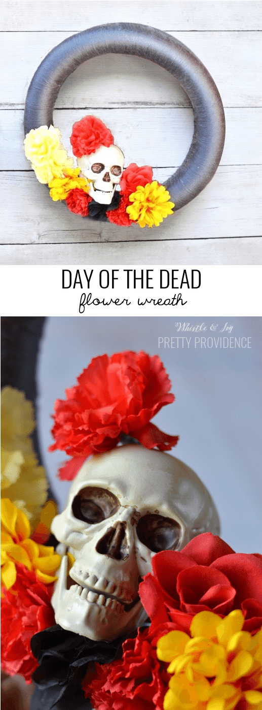 Day of the Dead flower wreath! Something fun for dia de lost muertos.