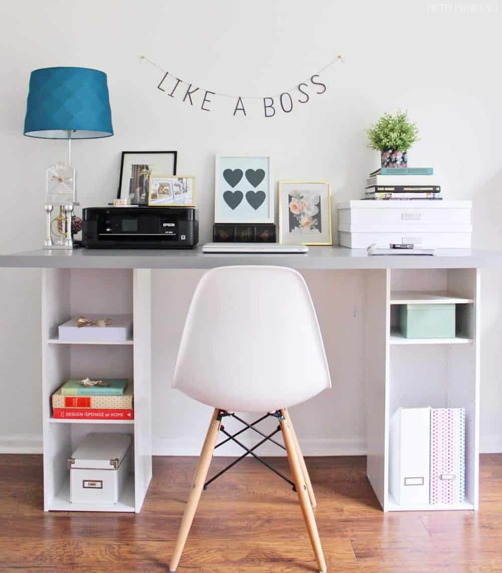 home office desks for two. The Perfect IKEA Hack Desk For A Home Office Or Craft Room! Desks Two