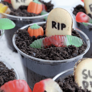 Halloween Dirt Cup Graveyard Treats