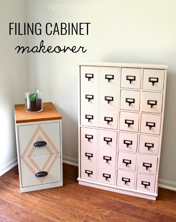 Super CUTE filing cabinet! Much better than leaving it plain. prettyprovidence.com