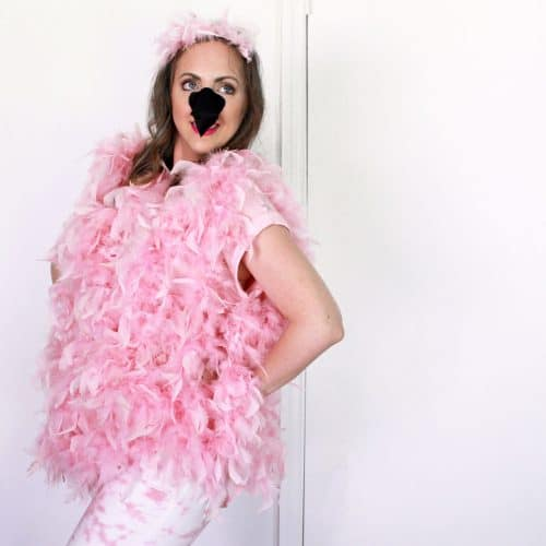 Easy DIY Flamingo Costume