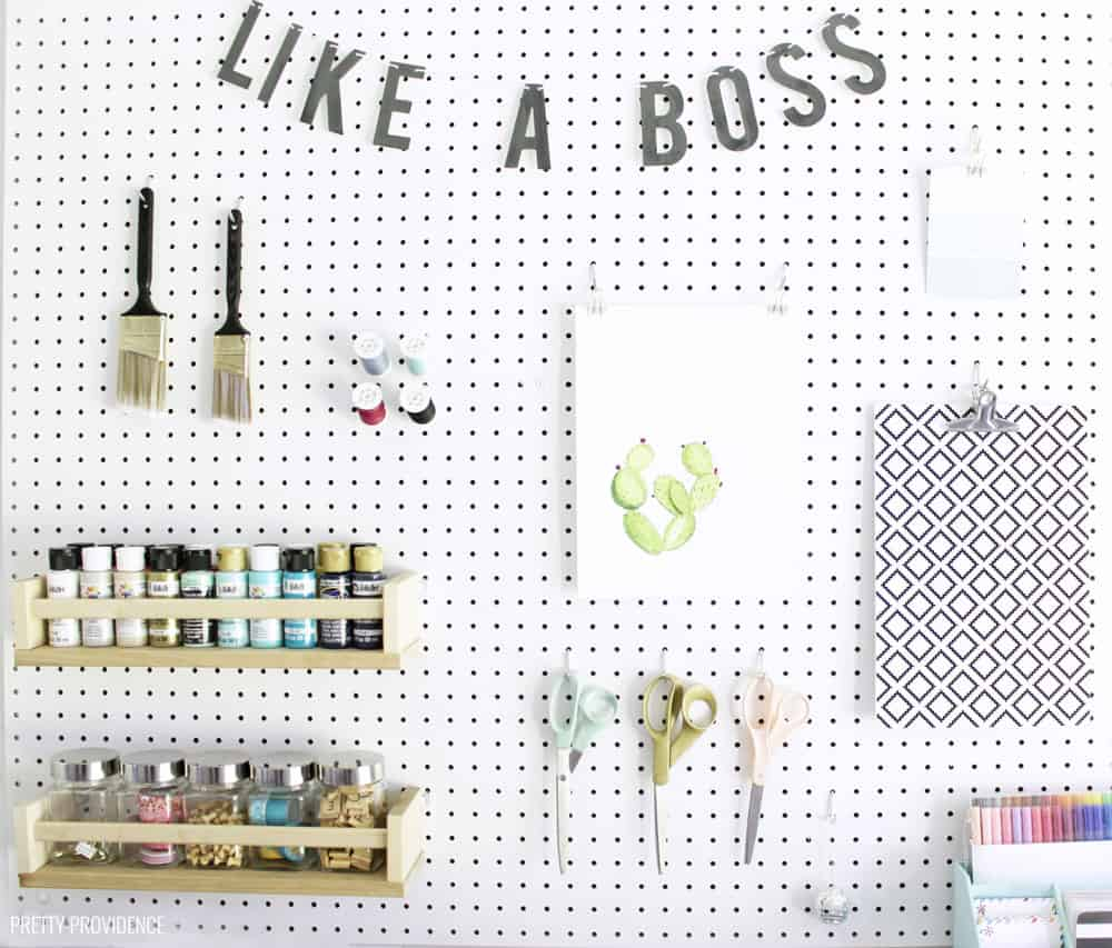 Pegboard for a craft room!