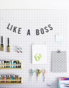 Pegboard for craft room!