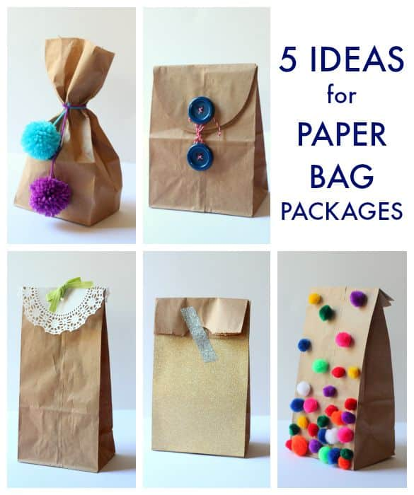 5 And Awesome Brown Paper Bag Party Favor Package Ideas Just In Time For