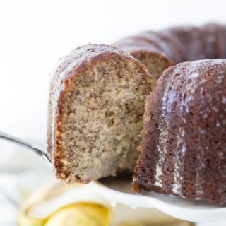 Absolutely delicious banana cake with vanilla glaze! Perfect for a special breakfast or dessert!