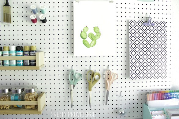 Craft room organization that is pretty and functional!
