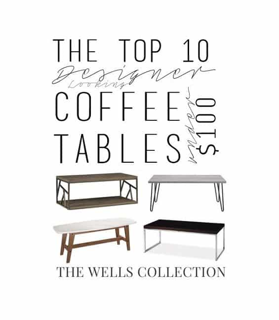 Designer looking coffee tables for under $100?!? YES PLEASE!