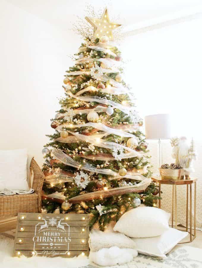 Whimsical Precious Metals Christmas Tree