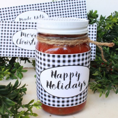 Christmas Jar Labels – Free Printable!