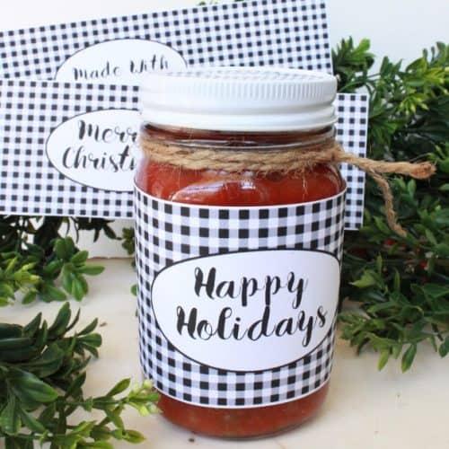 Christmas Jar Labels – Free Printable!