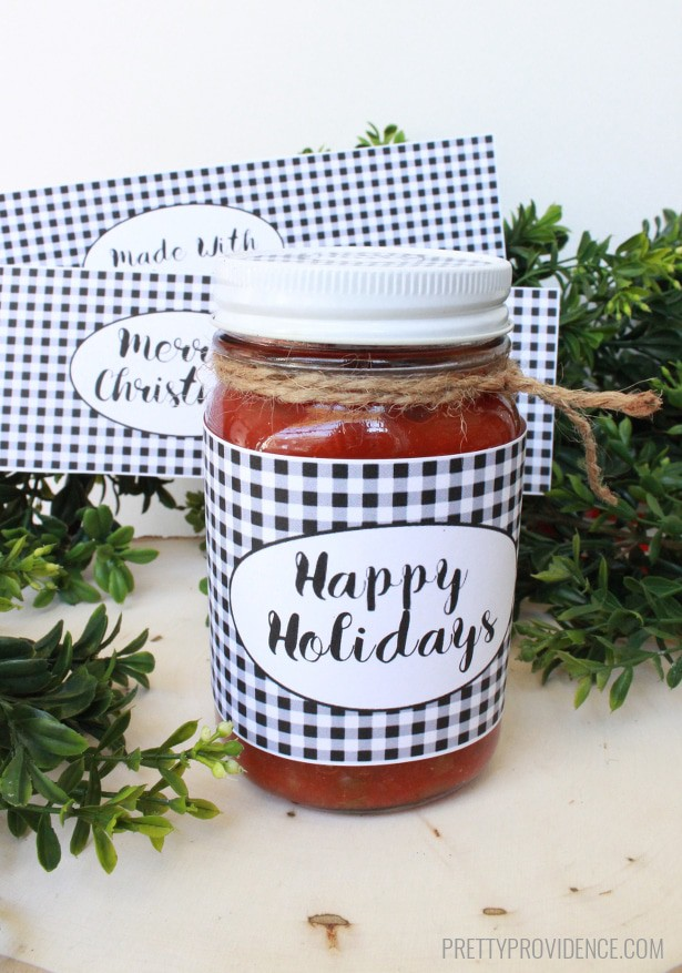 Printable Mason Jar Labels - Thirty Handmade Days