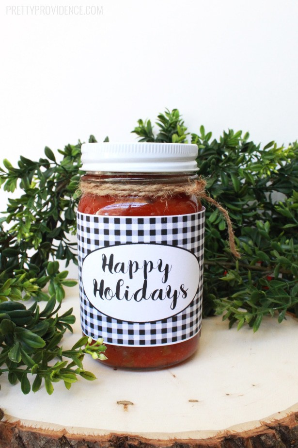 Printable Mason Jar Labels from Pretty Providence for Bake Craft Sew Decorate via Thirty Handmade Days
