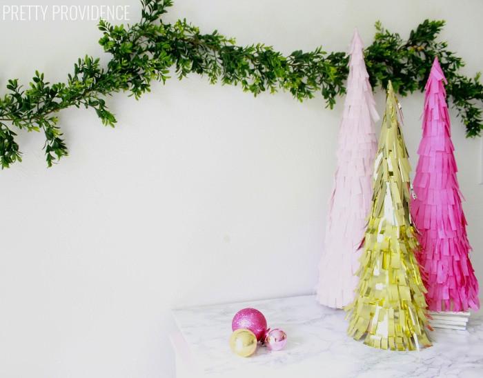 DIY Fringe Christmas Trees!