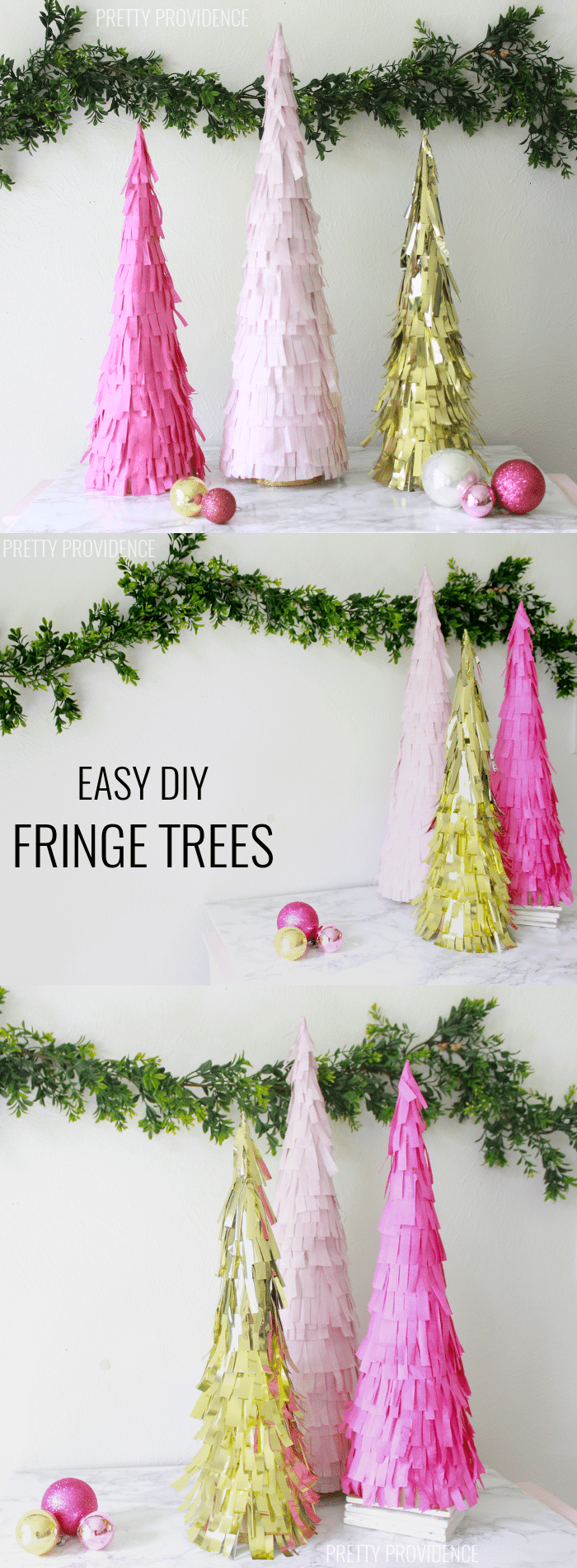 OBSESSED with these DIY fringe trees! Can do any color. prettyprovidence.com