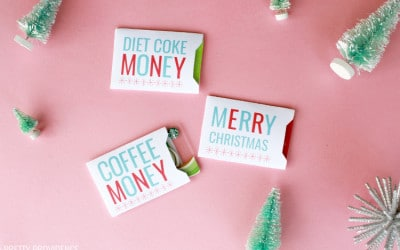 FREE gift card holders for Christmas - these are so fun!