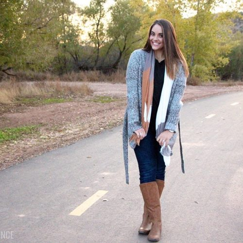 Cozy Sweater + Pretty Quilted Boots = Happiness