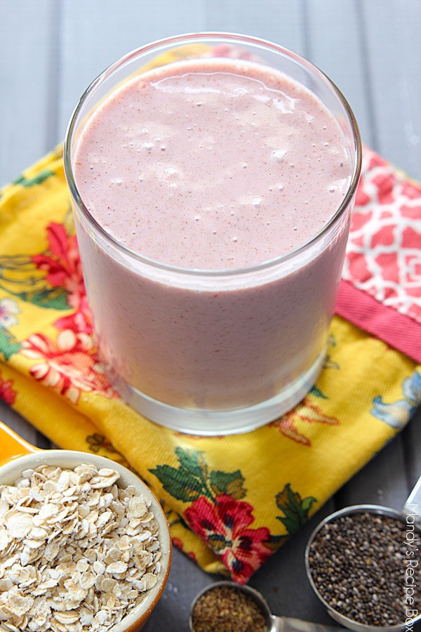 Strawbery Oatmeal Smoothie