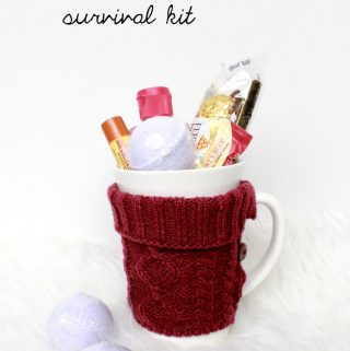 This is the perfect little care package for someone who has a cold or who hates winter!