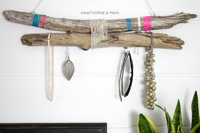 marvelous Driftwood Jewelry Holder Part - 3: This driftwood jewelry holder is perfect for me! I can keep all my jewelry  organized