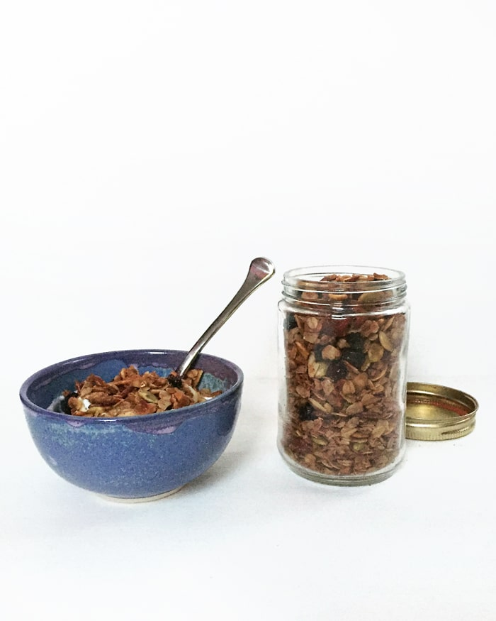 Maple Nut Granola | Feast + West for Pretty Providence