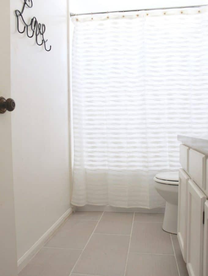 Master Bathroom Sneak Peek
